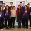 Alcalde y concejala de Deportes felicitan a los jugadores del Balonmano Leganés convocados por la selección madrileña