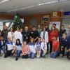 El alcalde visitó el Severo Ochoa junto al violinista José Asunción, la cantante Nía Correira y los jugadores del CD Leganés