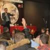 El astronauta Pedro Duque visit� el instituto de Legan�s que lleva su nombre