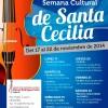 """El Conservatorio Profesional de M�sica """"Manuel Rodr�guez Sales"""" celebra la Semana Cultural de Santa Cecilia entre el 17 y el 22 de noviembre"""